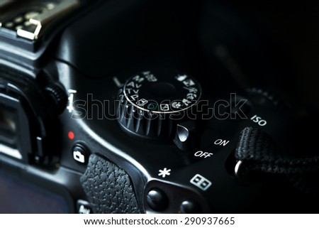 Dslr Camera Detail - stock photo