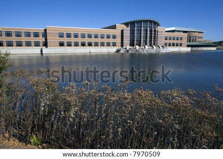 Du Page County administration building located in Wheaton, Il. - stock photo