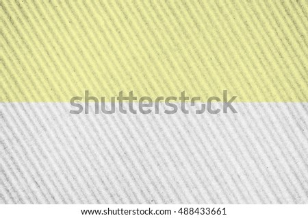 dual color corrugated cardboard surface close up - copy space