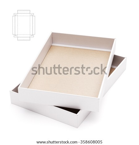 Dual Edge Tray Box with Die Cut Template