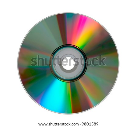 Dual layer DVD - stock photo