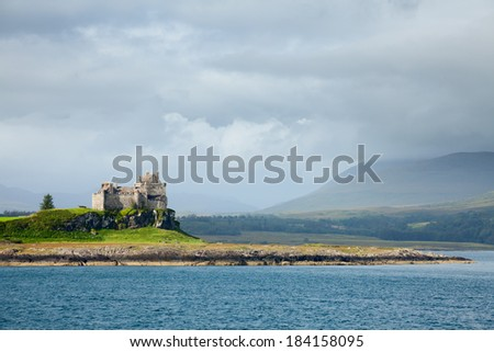 Duart Castle on the Isle of Mull in Scotland