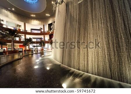 DUBAI - APRIL 18: Interior View of Dubai Mall, one of largest mall in the world on April 18, 2010 in Dubai, United Arab Emirates. - stock photo