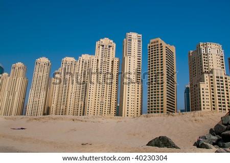 Dubai Beachfront Apartments - stock photo
