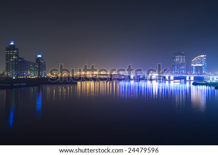 dubai city view from the river