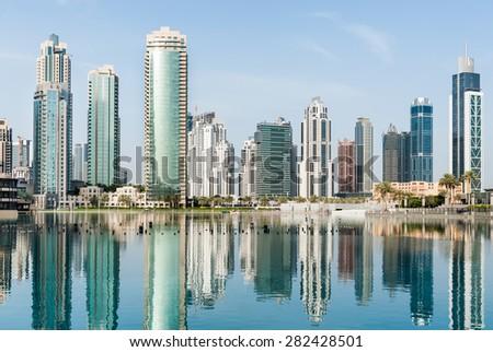 Dubai cityscape, UAE - stock photo