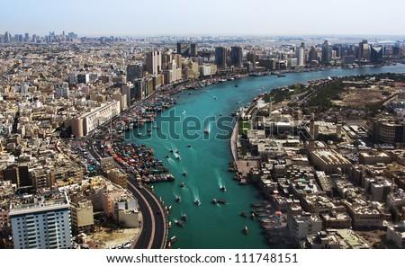 Dubai creek. Gulf of Dubai, United Arab Emirates - stock photo