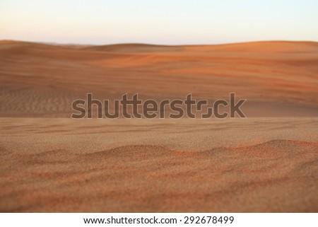 Dubai desert - stock photo