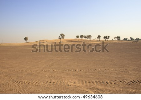 Dubai desert - stock photo