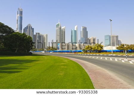 Dubai Financial District, UAE - stock photo