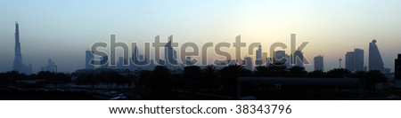 Dubai in the evening - stock photo