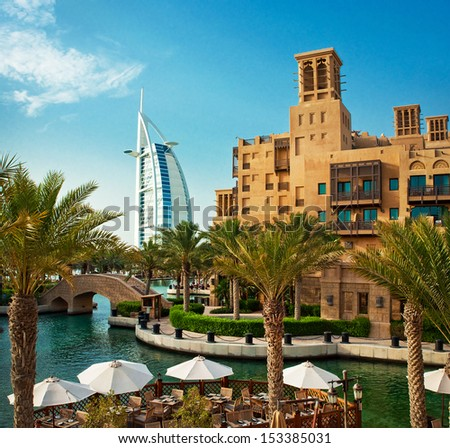 Dubai june 3 famous hotel tourist stock photo 153385016 for Dubai famous hotel