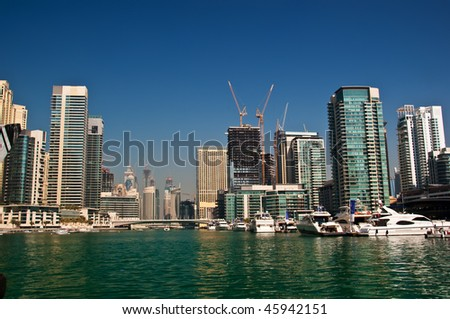 Dubai Marina Landscape - stock photo