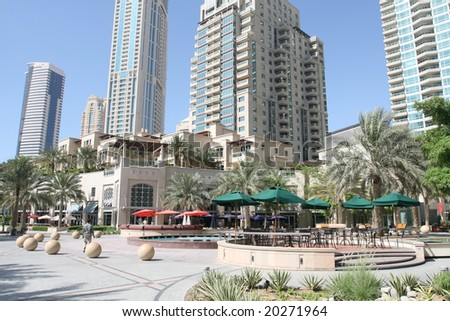 Dubai Marina Shops - stock photo