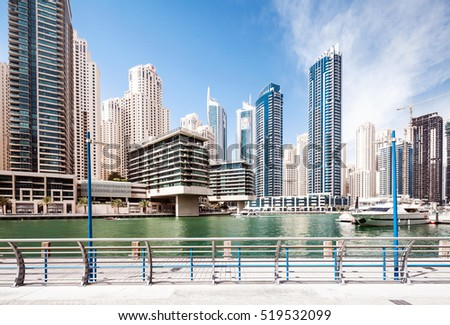 Dubai marina walk and promenade