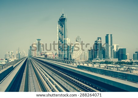 Dubai Metro, United Arab Emirates - stock photo