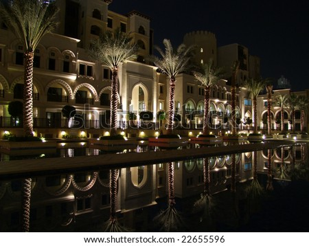 dubai old town - stock photo