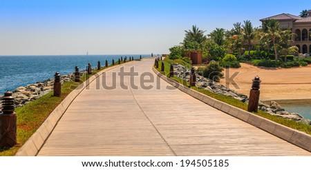 Dubai, Sea view - stock photo