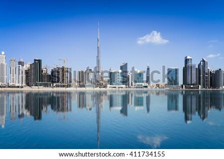 Dubai skyline, United Arab Emirates - stock photo