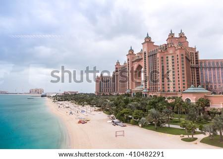 DUBAI, UAE - DECEMBER 5: Atlantis hotel in Dubai, UAE. December 5, 2015 in Dubai, United Arab Emirates - stock photo