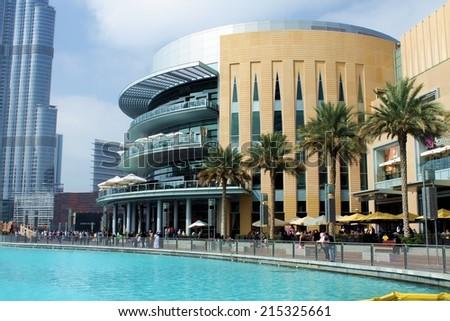 DUBAI, UAE - JAN 29, 2014 - Shopping festival in Downtown Dubai - stock photo