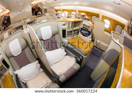 Dubai uae november 09 2015 emirates stock photo edit now for Airbus a380 emirates interior