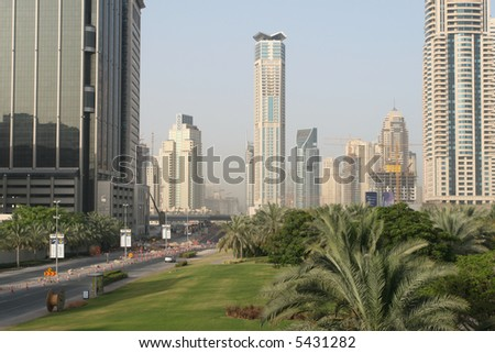 Dubai Under Construction - stock photo