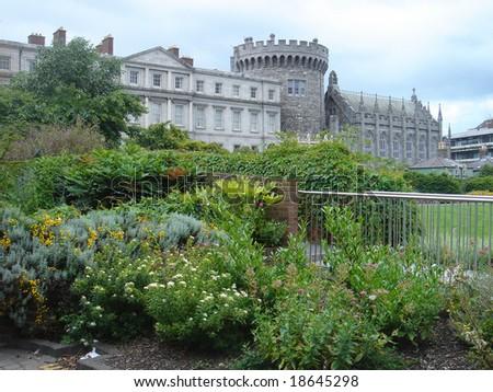 Dublin castle - stock photo