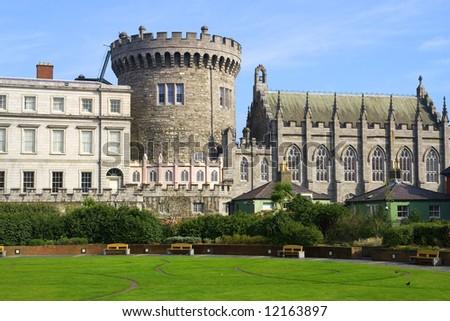 Dublin Castle in Dublin, Ireland. - stock photo
