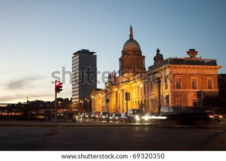 Dublin city - stock photo