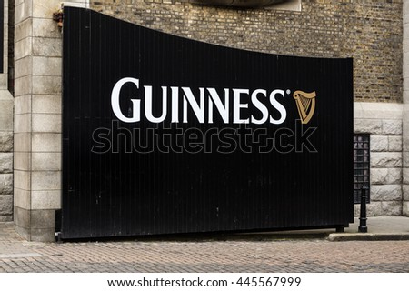DUBLIN, IRELAND - 15 APRIL 2015: Gate to the Guinness Storehouse Brewery Visitor Attraction in the St James Gate Area of Dublin - stock photo