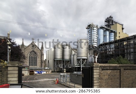 Dublin, Ireland - August 19, 2014: Guinness Brewery in the Dublin in Ireland.