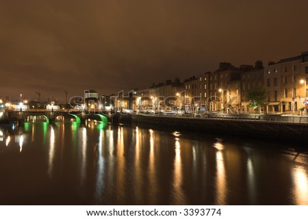 Dublin view over the river Liffey.