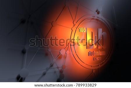 Indium chemical element sign atomic number stock illustration dubnium chemical element sign with atomic number and atomic weight chemical element of periodic urtaz Images