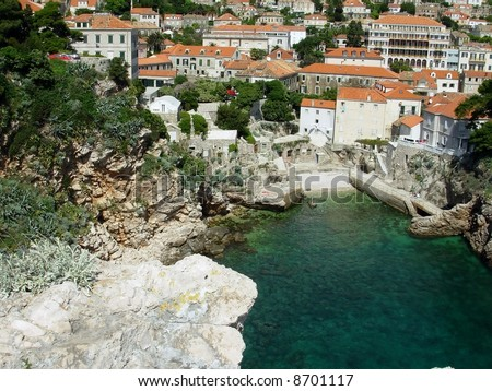Dubrovnik city view - stock photo