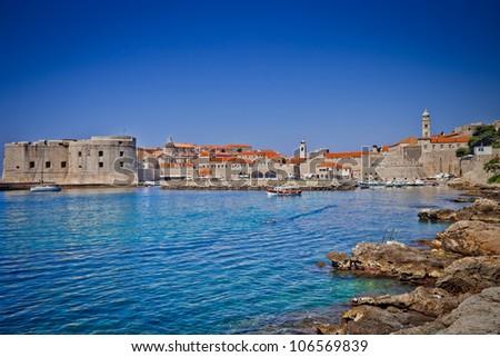 Dubrovnik old city Croatia - stock photo