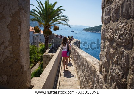 Dubrovnik Old Town in Croatia, Europe - stock photo