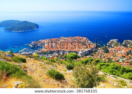 Dubrovnik postcard  - stock photo