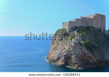 Dubrovnik scenic view on city walls