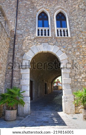 Ducal Palace. Pietragalla. Basilicata. Italy. - stock photo