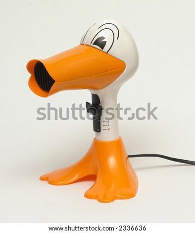 Duck hair dryer - stock photo