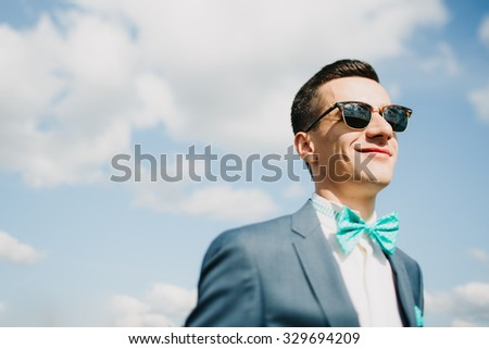 dude on the sky background