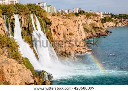 Duden waterfall in Antalya, Turkey - stock photo