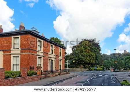 DUDLEY, OCTOBER 02: View of Ednam Road and Dudley Castle on Castle Hill, UK 2016.
