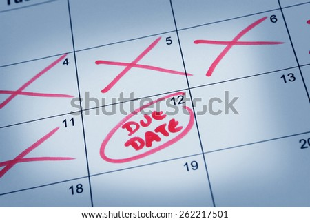 Due Date - stock photo