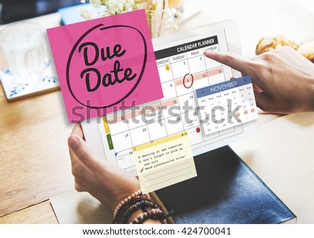 Due Date Appointment Day Event Important Concept - stock photo