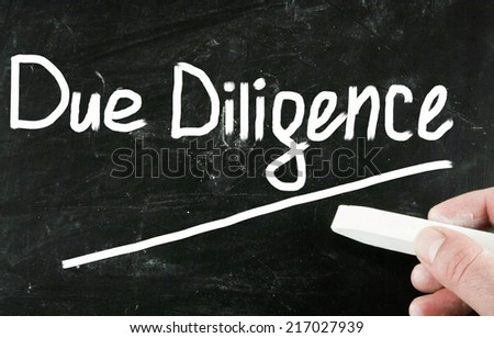 due diligence concept - stock photo
