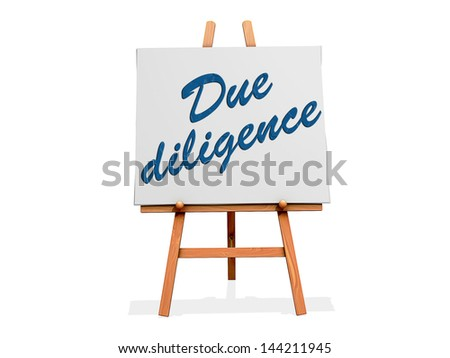 Due Diligence on a sign. - stock photo