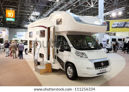 DUESSELDORF - AUGUST 27: Eura Mobil Camper at the Caravan Salon Exhibition 2012 on August 27, 2012 in Dusseldorf, Germany.
