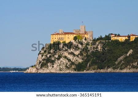 Duino Castello near Trieste, Italy - stock photo